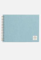 Typo - A4 spiral sketch book - blue