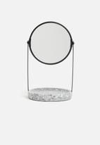 Sixth Floor - Marble table mirror - black