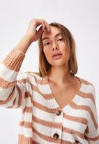 Cotton On - Summer lounge cardigan - cashew stripe