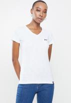 Aca Joe - Aca joe slub v neck T-shirt - white
