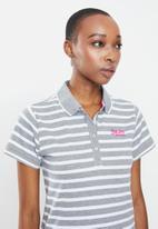 Aca Joe - Aca joe stripe golfer - grey & white
