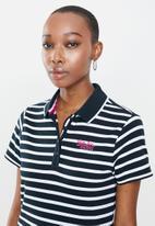 Aca Joe - Aca joe stripe golfer - navy & white