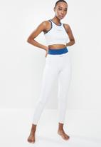 Missguided - Missguided contrast seam detail co ord - light grey & blue