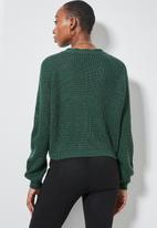 Superbalist - Knit crop cardigan - emerald