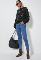 Superbalist - Graphic jumper - black & white