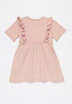 Superbalist Kids - Baby girls short sleeve dress - pink