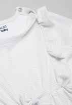 Superbalist Kids - Baby girls stripe short sleeve dress - green & white