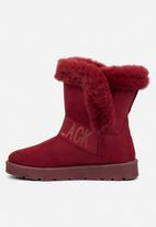 Miss Black - Rae slipper boot - burgundy
