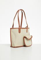 Superbalist - Eva tote bag - natural & tan