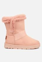 Miss Black - Rae slipper boot - pink