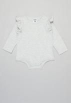 Cotton On - 3 Pack long sleeve ruffle bubbysuit - multi