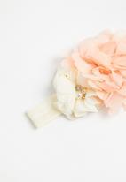 POP CANDY - Girls flower headband - peach & cream