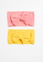POP CANDY - Girls 2 pack headband - yellow & pink