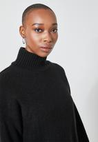 Superbalist - Soft touch funnel neck - black