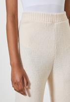 Superbalist - Wide leg knitwear pants - oatmeal