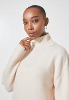 Superbalist - Soft touch funnel neck - oatmeal