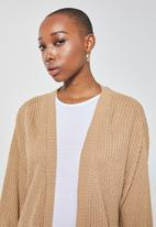 Superbalist - Chunky knit cardi - taupe