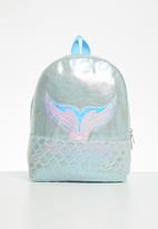 POP CANDY - Girls metallic mermaid backpack - silver