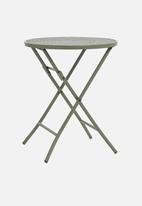 H&S - Punch folding outdoor table - green