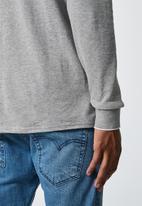 Superbalist - Pique slim fit zip golfer - grey