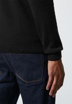 Superbalist - Basic roll neck slim fit knit - black