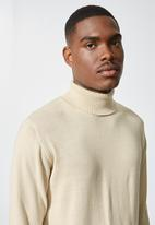 Superbalist - Basic roll neck slim fit knit - stone