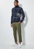 Superbalist - Check pattern roll neck knit - navy