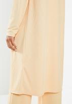 Missguided - Petite ribbed cardigan - beige
