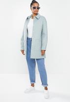 Glamorous - Quilted oversized coat - dusty blue