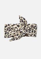 Cotton On - The tie headband - beige & black