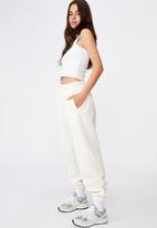 Factorie - Super slouchy trackpants - ecru