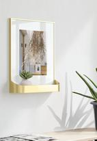 Umbra - Matinee photo display - matte brass