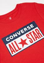 Converse - License plate T-shirt - red