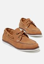 Cotton On - Classic boat shoe - tan