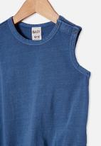 Cotton On - Lena singlet bubbysuit - blue
