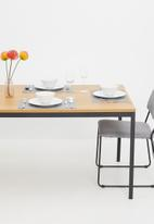 Sixth Floor - Seaford dining table - natural & black