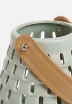 H&S - Ceramic glow lantern -  grey