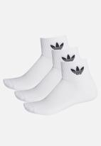 adidas Originals - Mid ankle sck crew socks - white