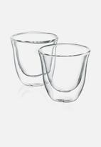 DeLonghi - Double Walled Espresso Glasses - Clear Set of 2