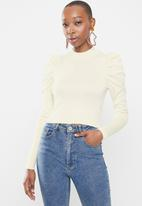 Glamorous - Puff sleeve knit - off white