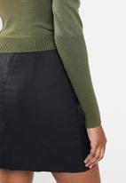 Glamorous - Puff sleeve knit - khaki green