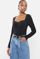 Glamorous - Plat bodysuit - black
