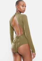 Glamorous - High neck bodysuit - khaki