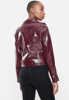 Glamorous - Biker patent jacket - maroon