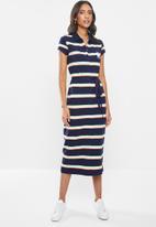 POLO - Bernadine stripe longer length golfer dress - multi