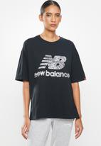 New Balance  - Athletics animal print tee - black