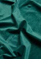 Sixth Floor - Velvet eyelet curtain 2 pack - teal green