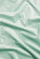 Sixth Floor - Velvet eyelet curtain 2 pack - duck egg blue