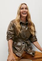 MANGO - Jacket doris - brown