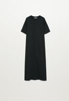 MANGO - Dress mad-a - charcoal